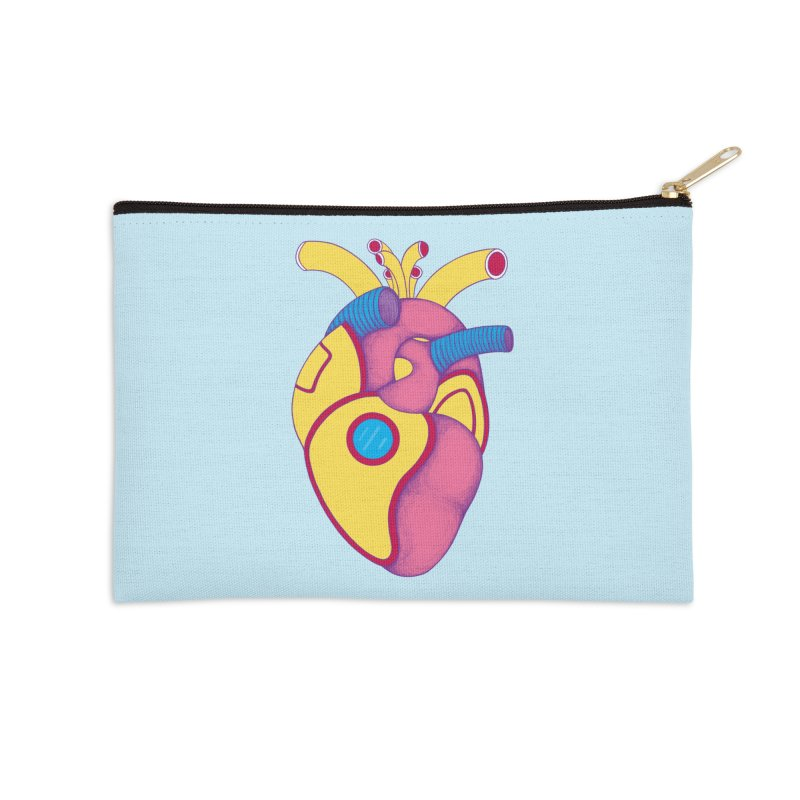 Yellow Submarine Heart Accessories Zip Pouch by Ranggasme's Artist Shop