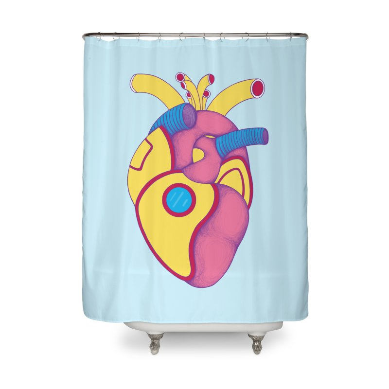 Yellow Submarine Heart Home Shower Curtain by Ranggasme's Artist Shop