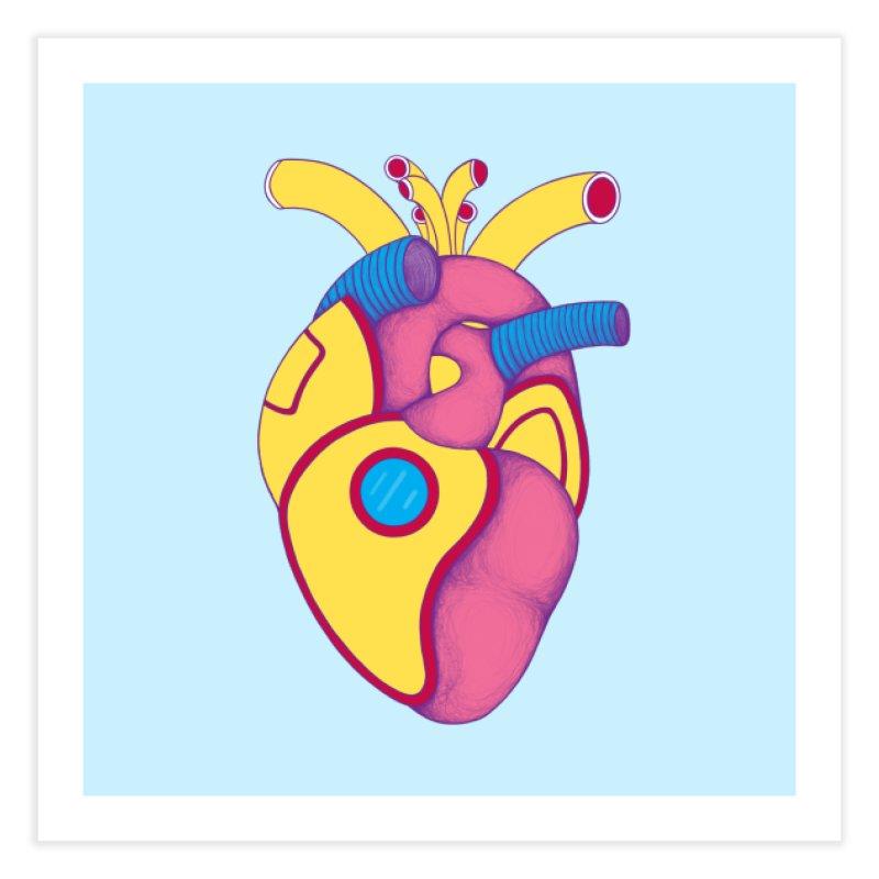 Yellow Submarine Heart Home Fine Art Print by Ranggasme's Artist Shop
