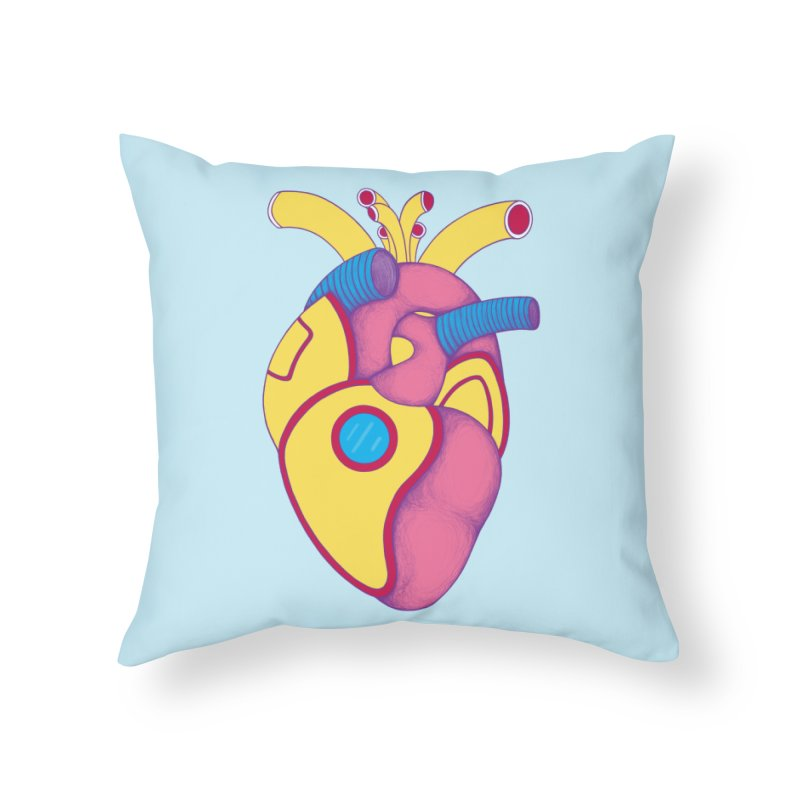 Yellow Submarine Heart Home Throw Pillow by Ranggasme's Artist Shop