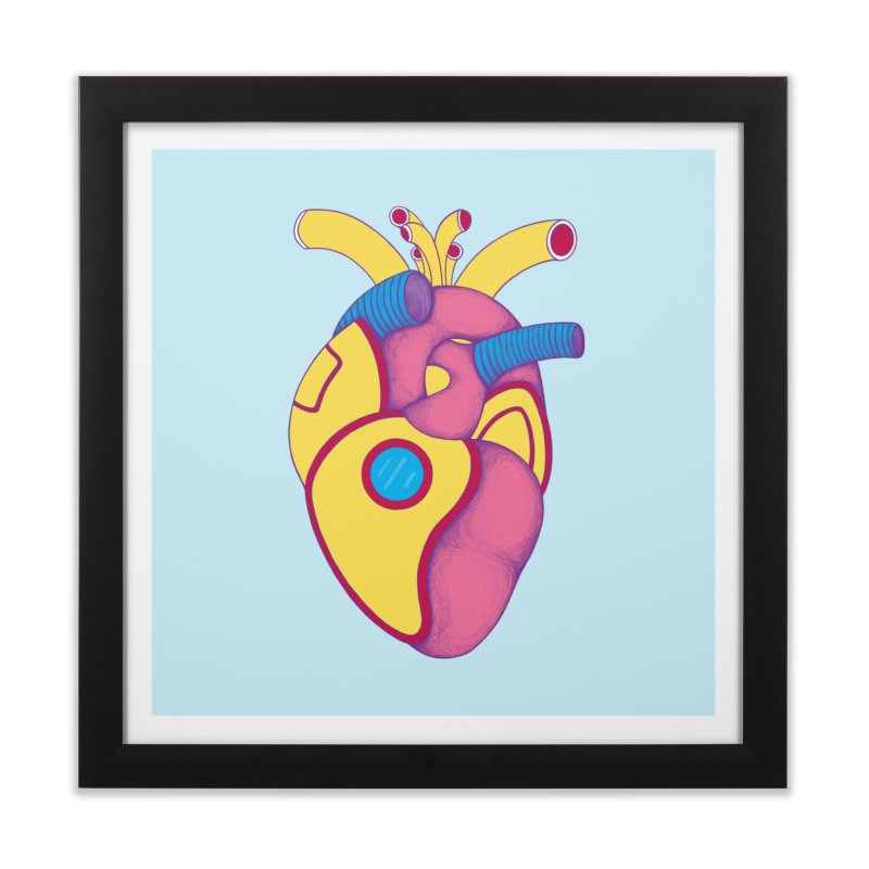 Yellow Submarine Heart Home Framed Fine Art Print by Ranggasme's Artist Shop