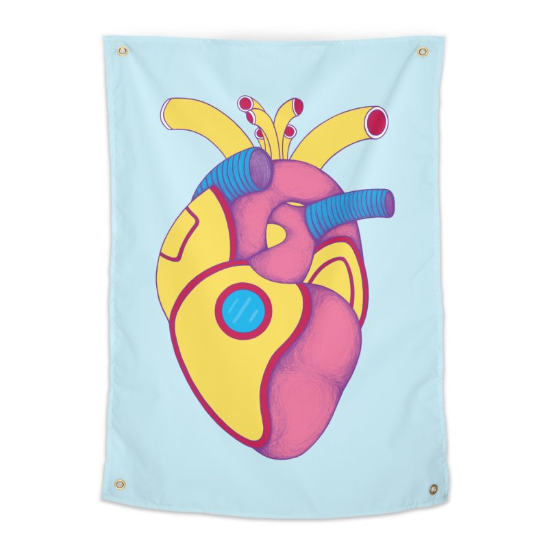 Yellow Submarine Heart Home Tapestry by Ranggasme's Artist Shop