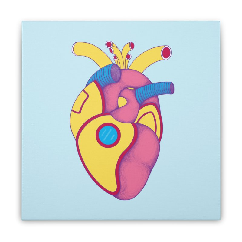 Yellow Submarine Heart Home Stretched Canvas by Ranggasme's Artist Shop