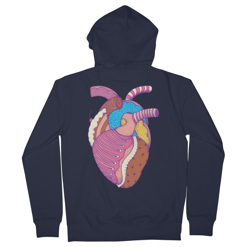 Sweet Heart Men's Zip-Up Hoody by Ranggasme's Artist Shop