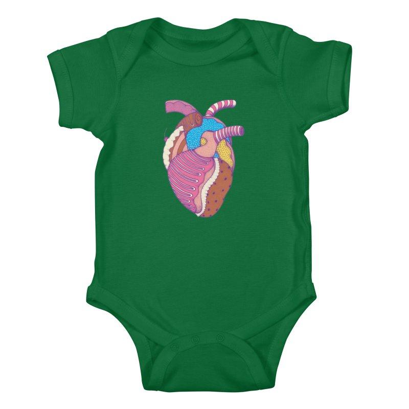 Sweet Heart Kids Baby Bodysuit by Ranggasme's Artist Shop