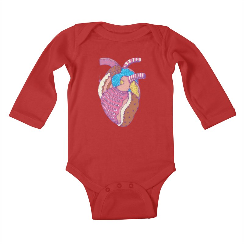 Sweet Heart Kids Baby Longsleeve Bodysuit by Ranggasme's Artist Shop