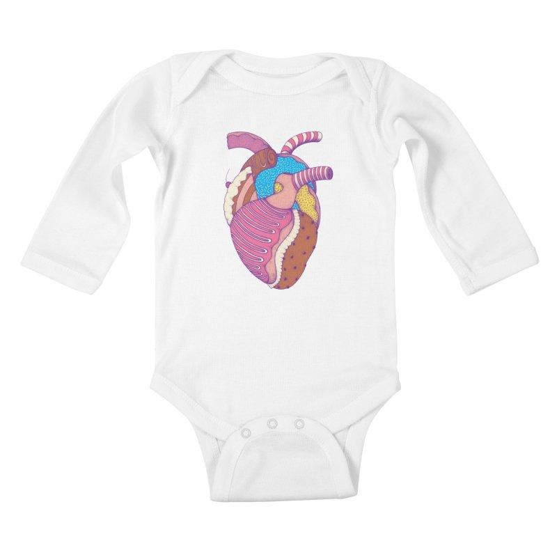 Sweet Heart Kids Baby Longsleeve Bodysuit by Ranggasme's Artist Shop
