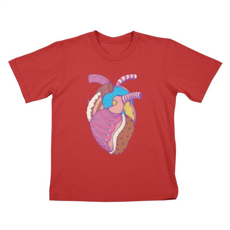 Sweet Heart Kids T-Shirt by Ranggasme's Artist Shop