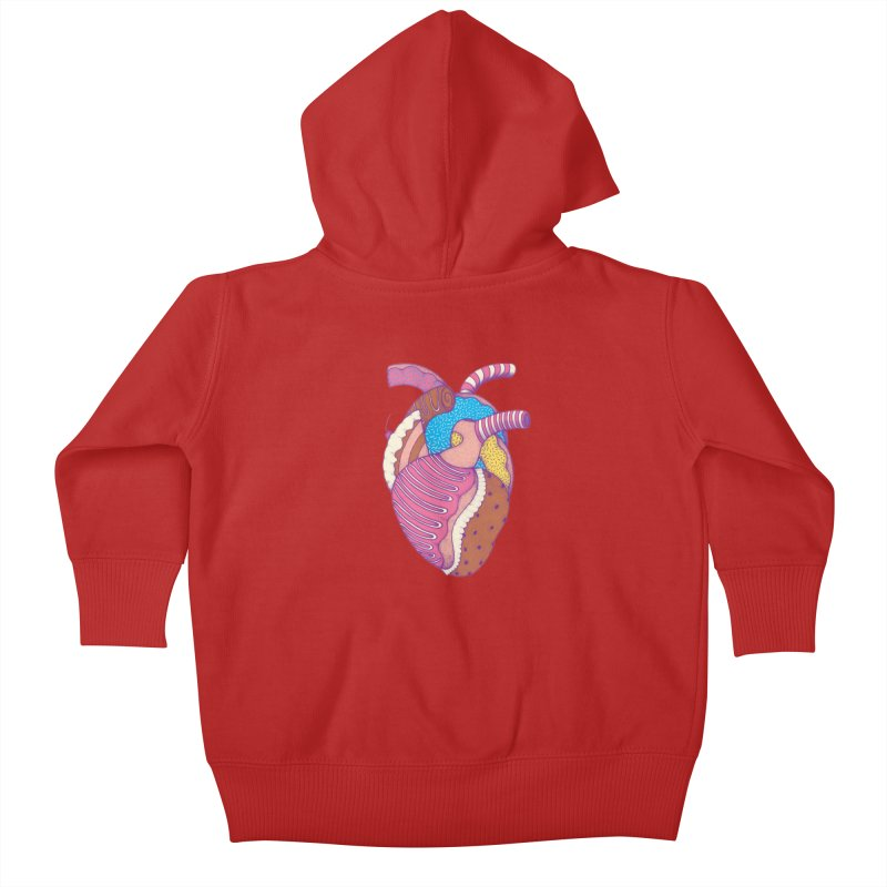 Sweet Heart Kids Baby Zip-Up Hoody by Ranggasme's Artist Shop