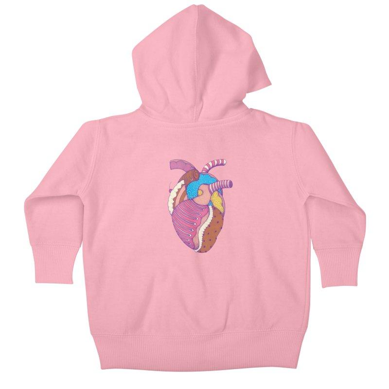 Sweet Heart Kids Baby Zip-Up Hoody by Ranggasme's Artist Shop