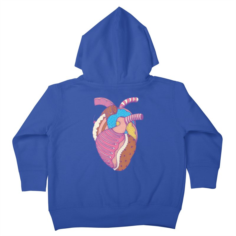 Sweet Heart Kids Toddler Zip-Up Hoody by Ranggasme's Artist Shop