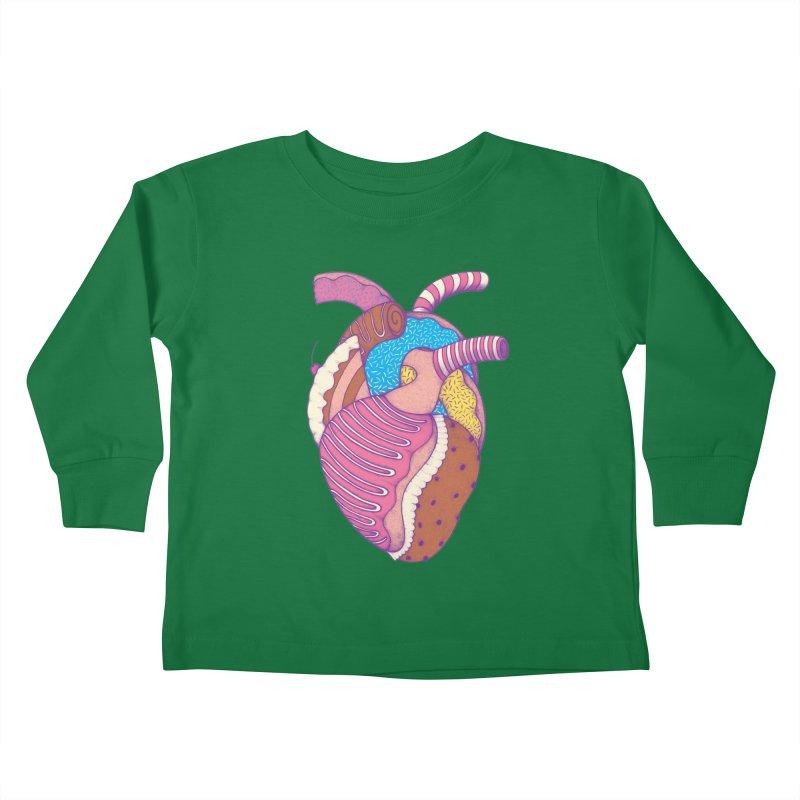 Sweet Heart Kids Toddler Longsleeve T-Shirt by Ranggasme's Artist Shop