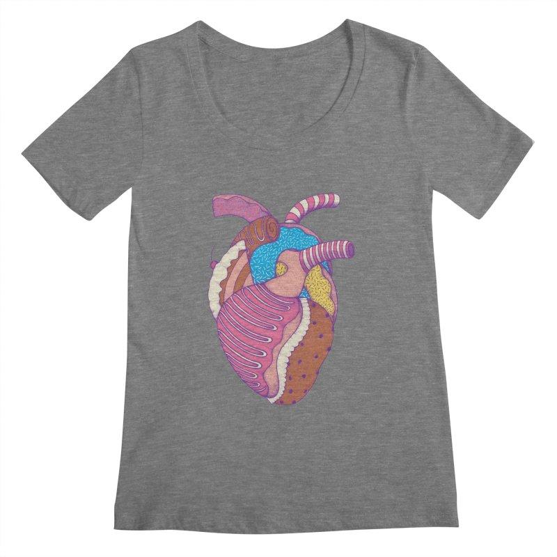 Sweet Heart Women's Scoopneck by Ranggasme's Artist Shop