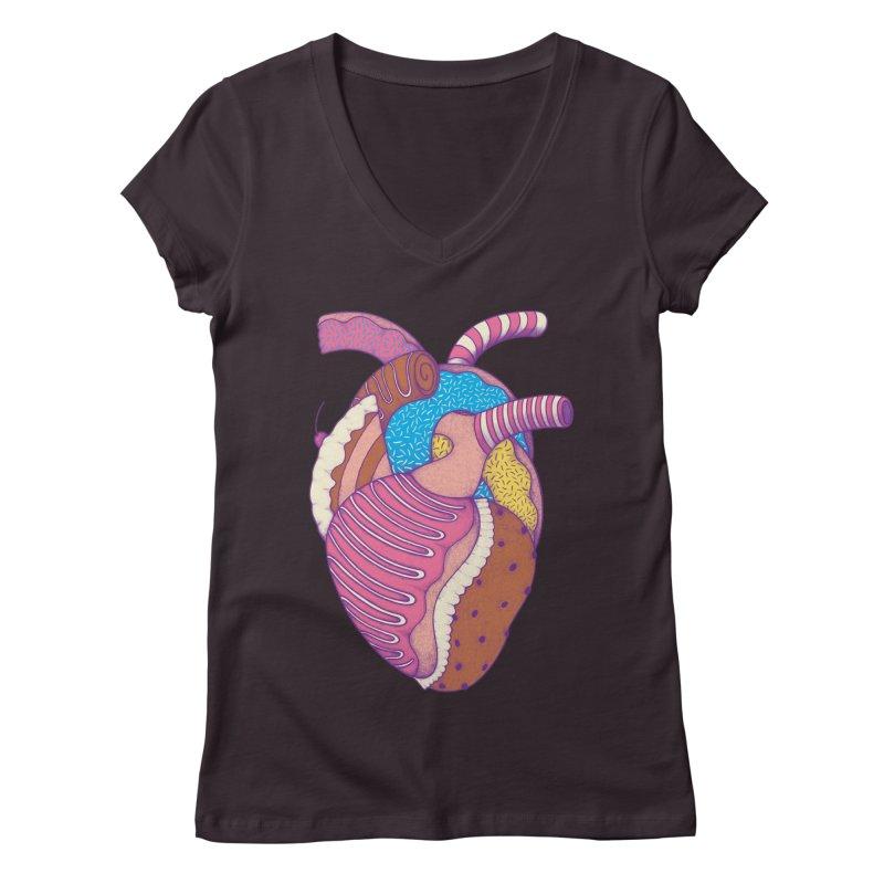 Sweet Heart Women's V-Neck by Ranggasme's Artist Shop