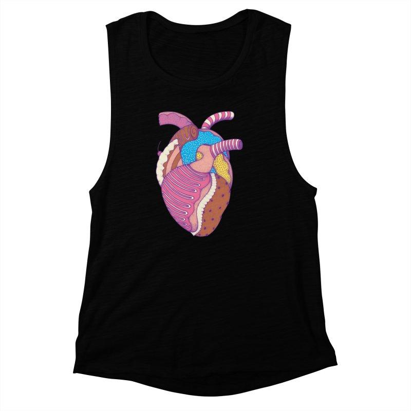 Sweet Heart Women's Muscle Tank by Ranggasme's Artist Shop