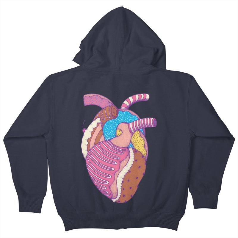 Sweet Heart Kids Zip-Up Hoody by Ranggasme's Artist Shop