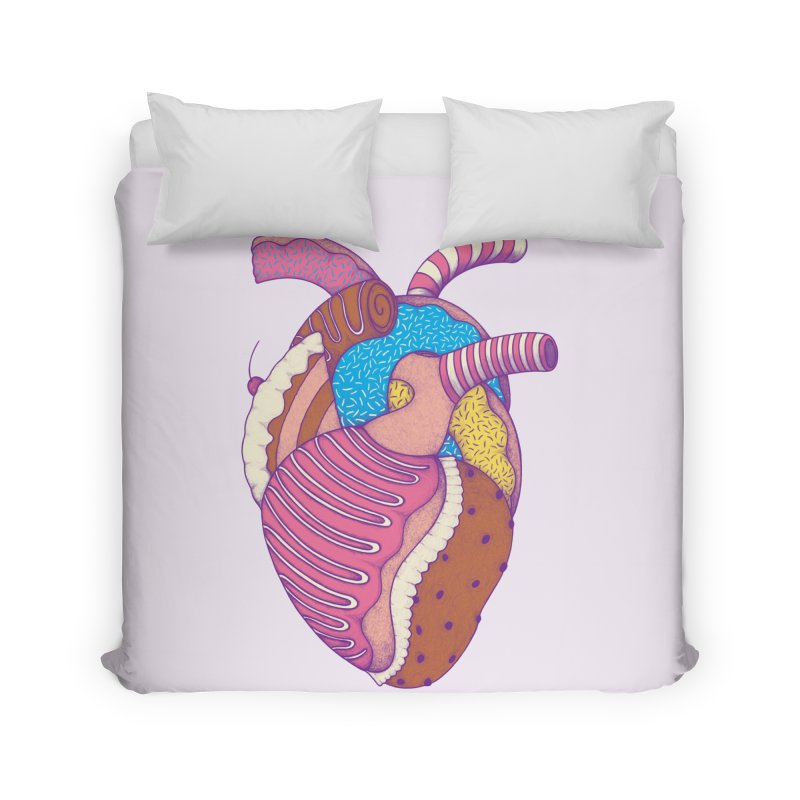 Sweet Heart Home Duvet by Ranggasme's Artist Shop