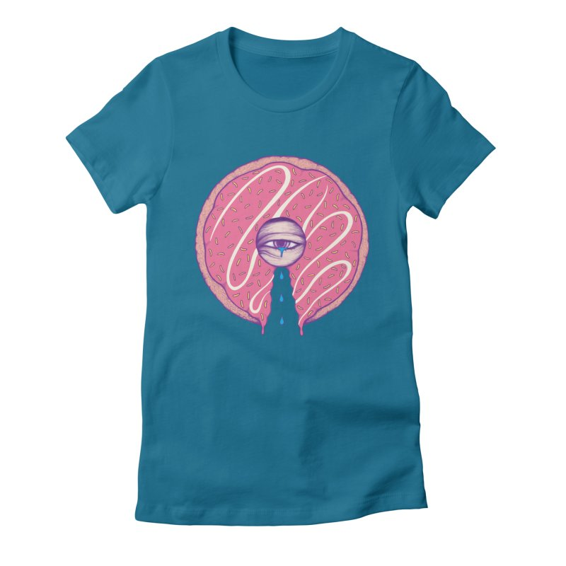 Donut Cry Women's Fitted T-Shirt by Ranggasme's Artist Shop