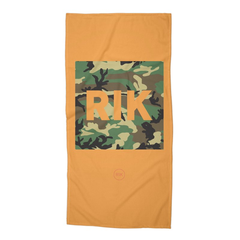 RIK Block (Woodland) Accessories Beach Towel by RIK.Supply