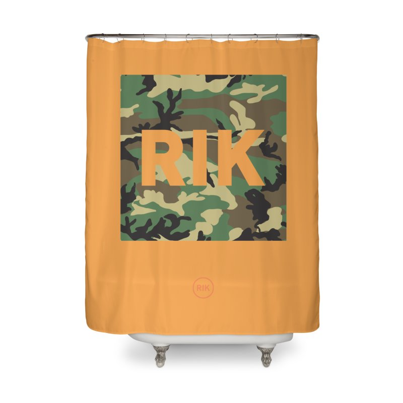 RIK Block (Woodland) Home Shower Curtain by RIK.Supply
