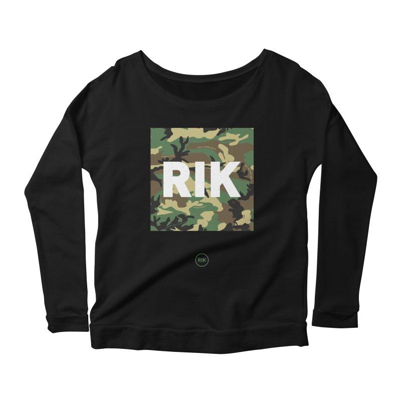 RIK Block (Woodland) Women's Longsleeve Scoopneck  by RIK.Supply