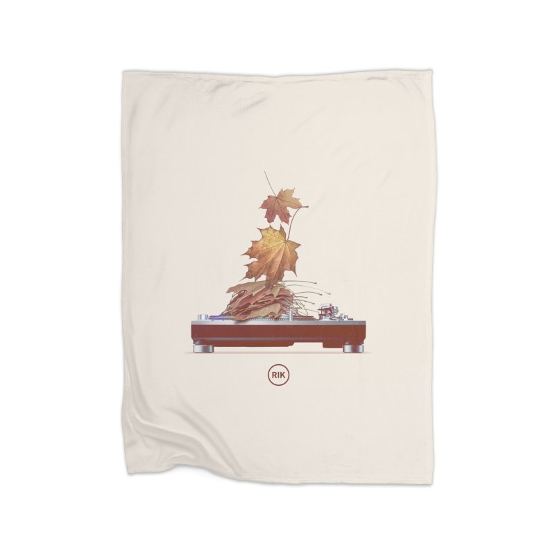 Soundtrack of Autumn Home Fleece Blanket Blanket by RIK.Supply