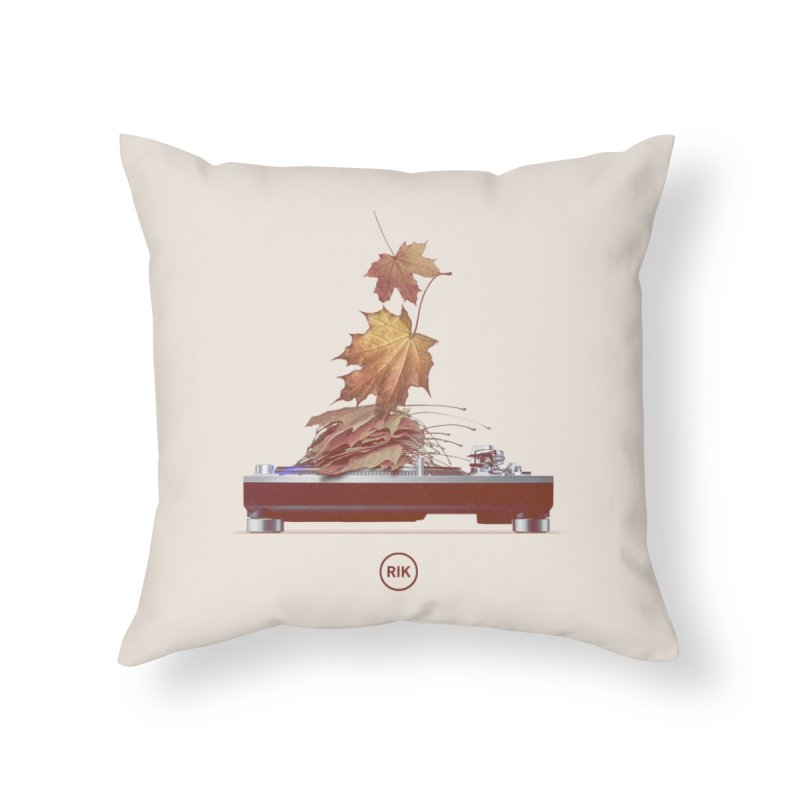 Soundtrack of Autumn Home Throw Pillow by RIK.Supply