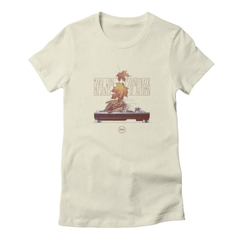 Soundtrack of Autumn Women's Fitted T-Shirt by RIK.Supply