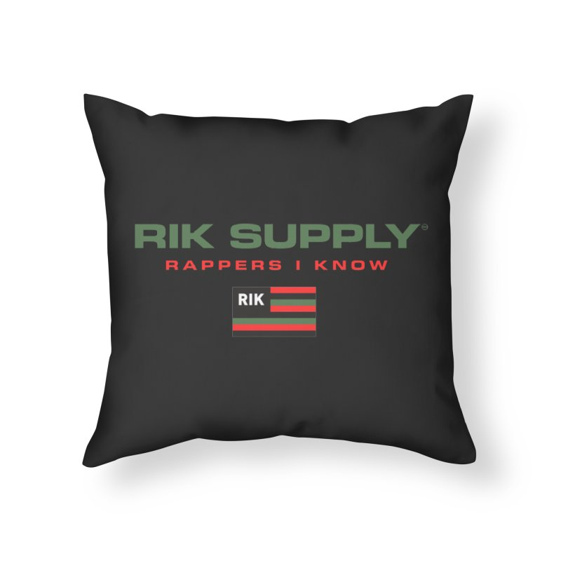 RIK SUPPLY SPORTY (RGB) Home Throw Pillow by RIK.Supply