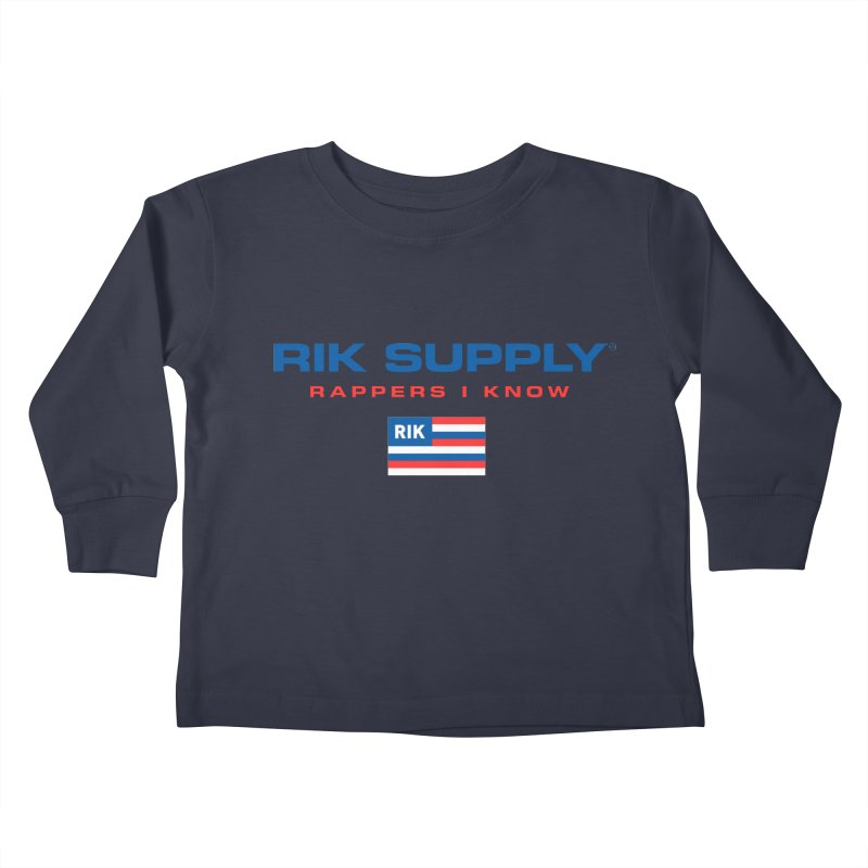 RIK SUPPLY SPORTY (RWB) Kids Toddler Longsleeve T-Shirt by RIK.Supply