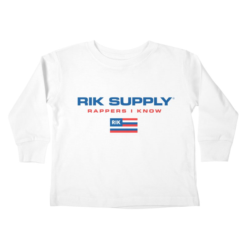 RIK SUPPLY SPORTY (RWB) Kids Toddler Longsleeve T-Shirt by RIK.Supply
