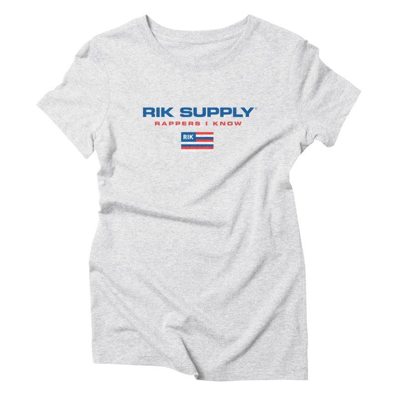 RIK SUPPLY SPORTY (RWB) Women's Triblend T-Shirt by RIK.Supply