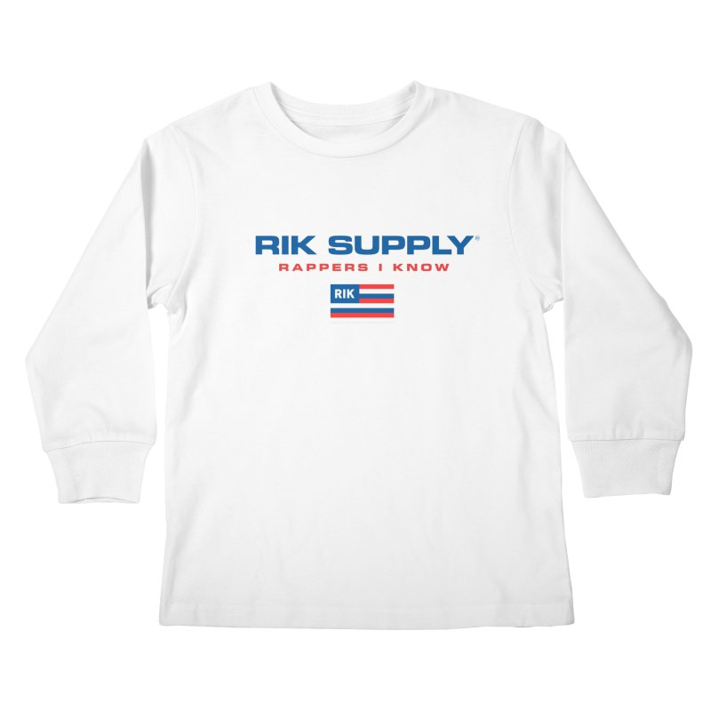 RIK SUPPLY SPORTY (RWB) Kids Longsleeve T-Shirt by RIK.Supply