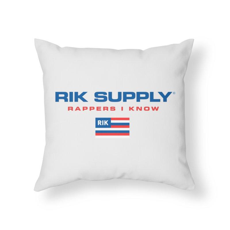 RIK SUPPLY SPORTY (RWB) Home Throw Pillow by RIK.Supply