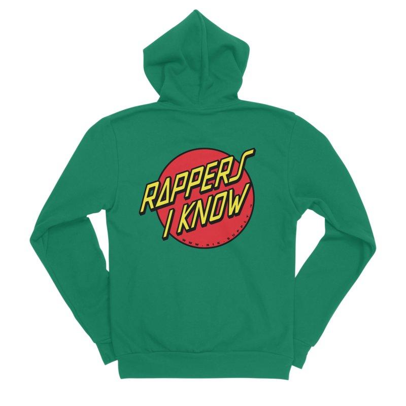 RIK Wavy Women's Sponge Fleece Zip-Up Hoody by RIK.Supply