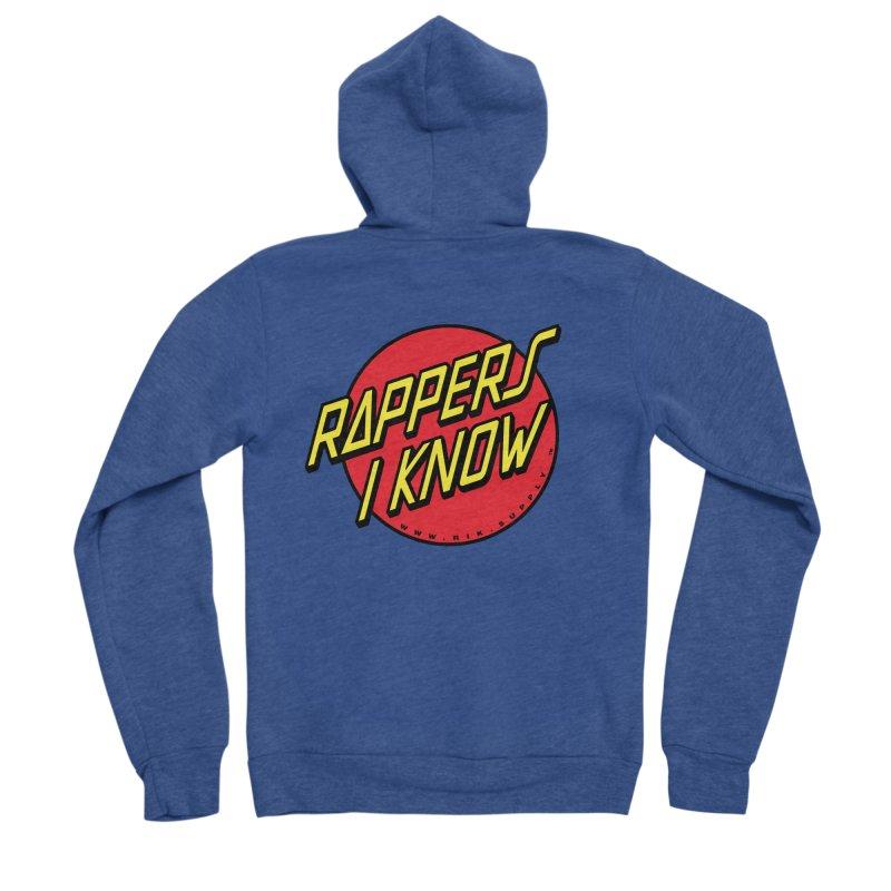 RIK Wavy Men's Sponge Fleece Zip-Up Hoody by RIK.Supply