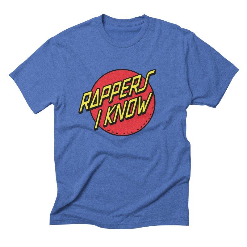 RIK Wavy Men's Triblend T-Shirt by RIK.Supply