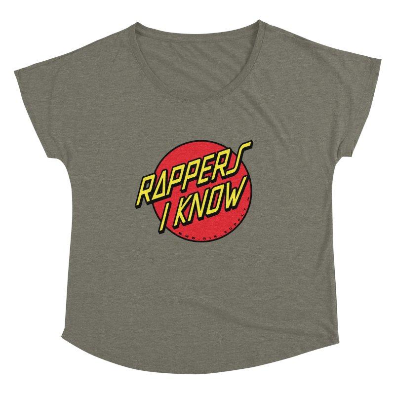 RIK Wavy Women's Dolman Scoop Neck by RIK.Supply