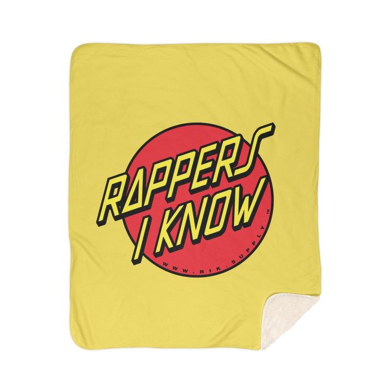 RIK Wavy Home Sherpa Blanket Blanket by RIK.Supply