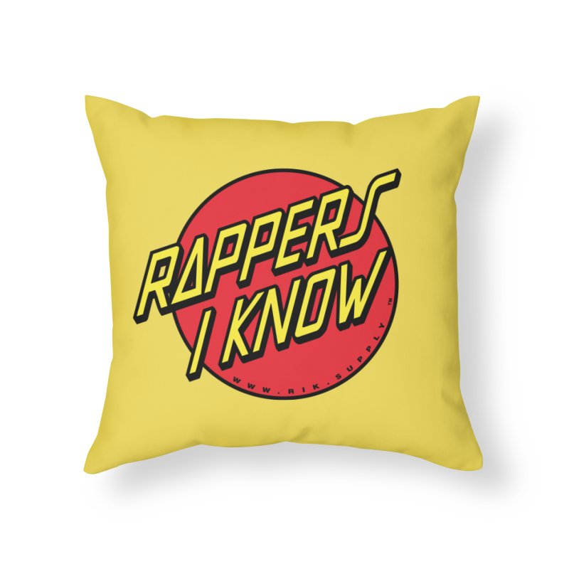 RIK Wavy Home Throw Pillow by RIK.Supply