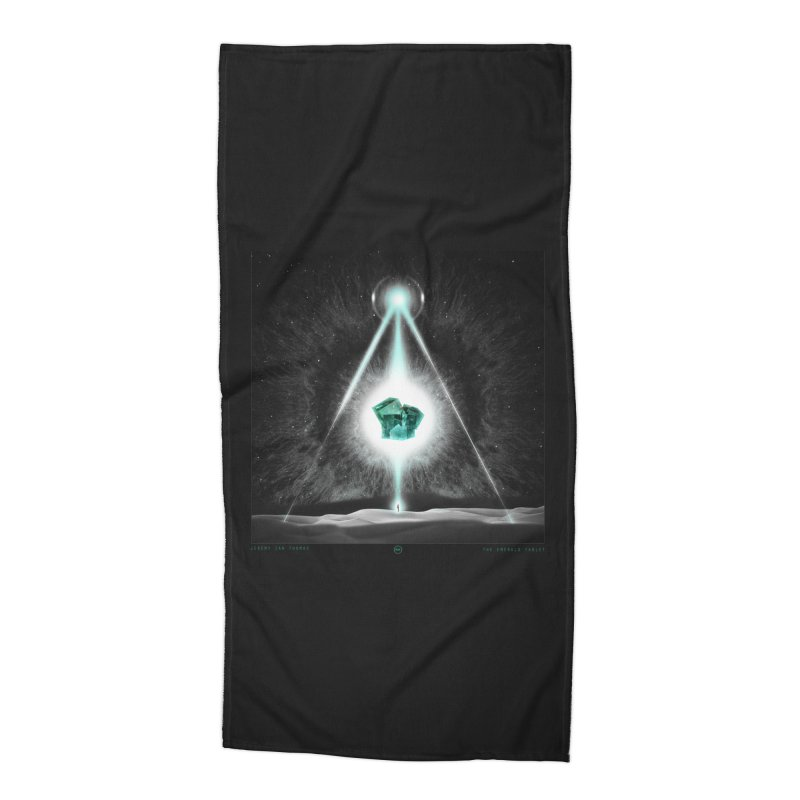 The Emerald Tablet Accessories Beach Towel by RIK.Supply