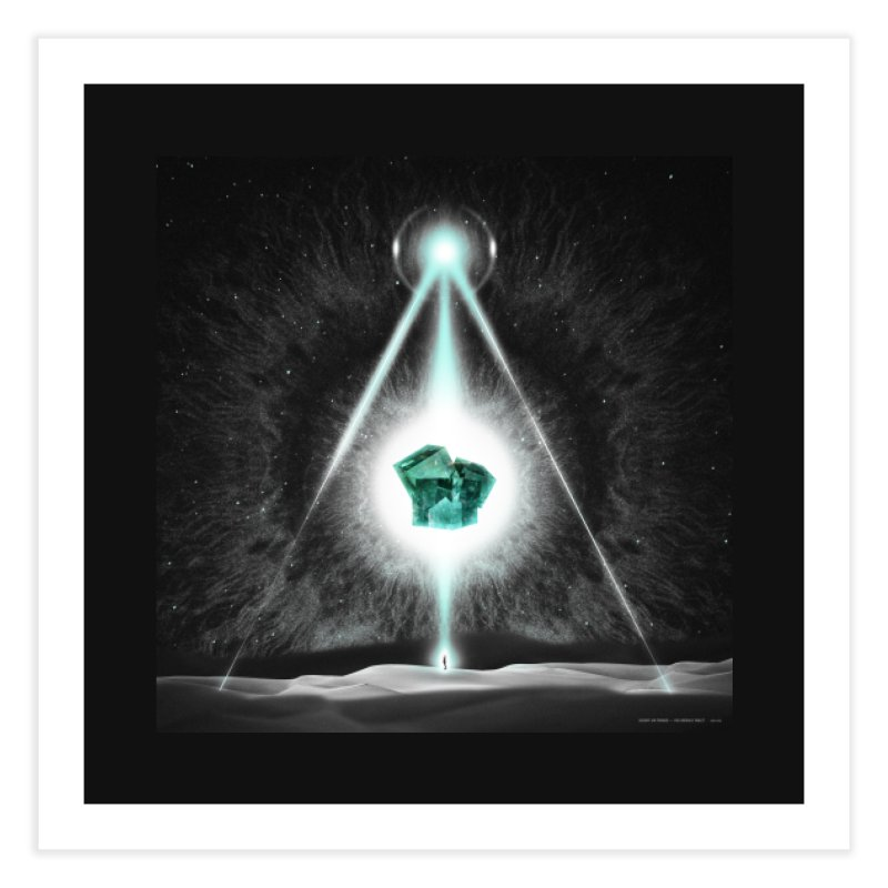 The Emerald Tablet Home Fine Art Print by RIK.Supply