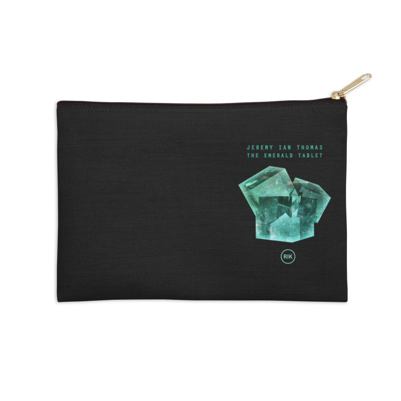The Emerald Tablet (Rubix) Accessories Zip Pouch by RIK.Supply