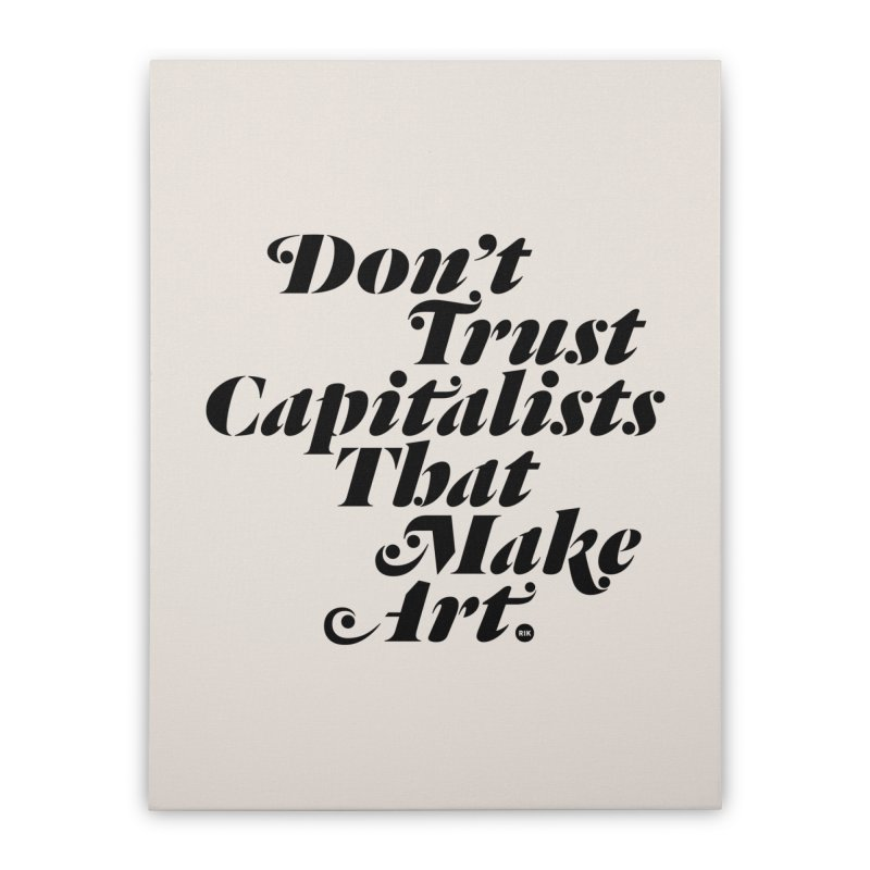 Capitalist Pigs Home Stretched Canvas by RIK.Supply