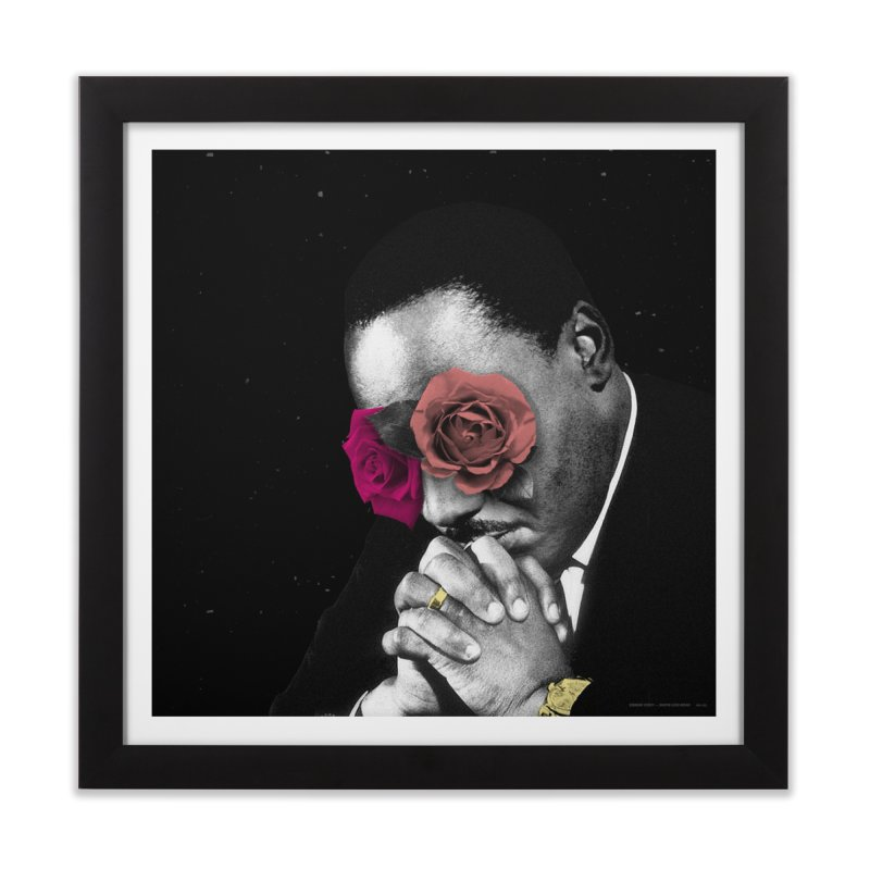 Martin Lucid Dream  in Framed Fine Art Print Black by RIK.Supply