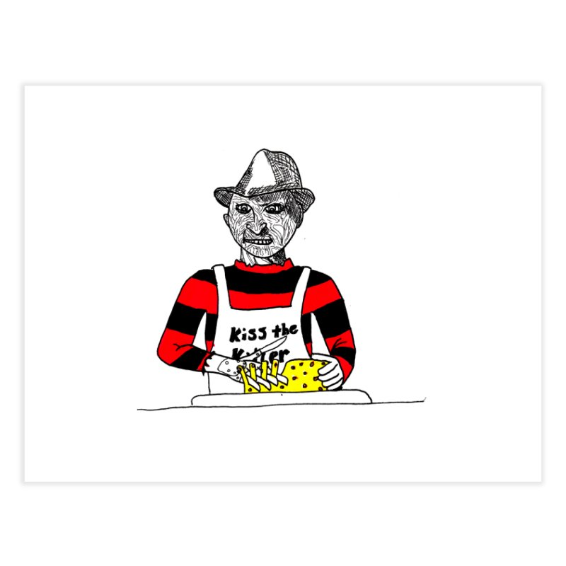 Killers In The Kitchen Freddy Home Fine Art Print by Raven Mad Design's Artist Shop