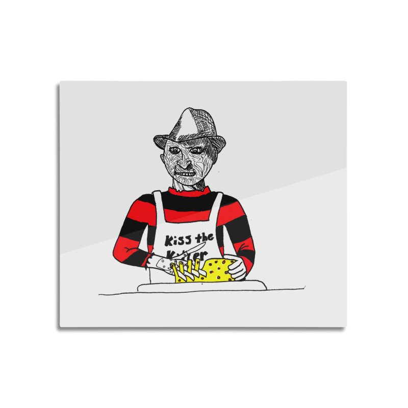 Killers In The Kitchen Freddy Home Mounted Acrylic Print by Raven Mad Design's Artist Shop