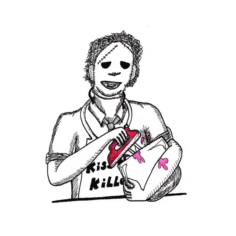 Killers In The Kitchen Leatherface Men's T-Shirt by Raven Mad Design's Artist Shop