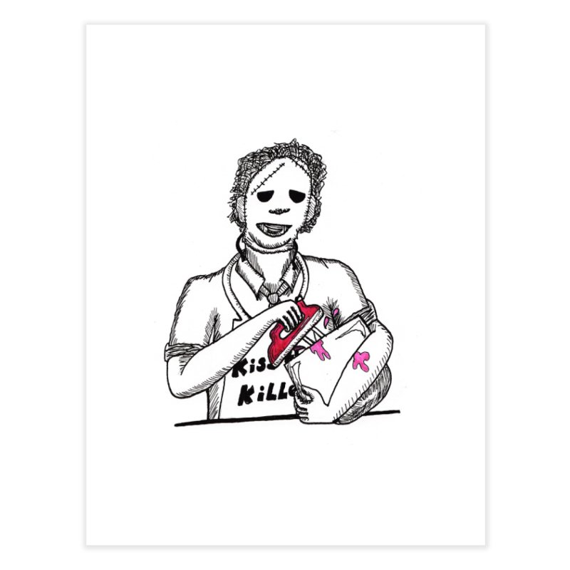 Killers In The Kitchen Leatherface Home Fine Art Print by Raven Mad Design's Artist Shop