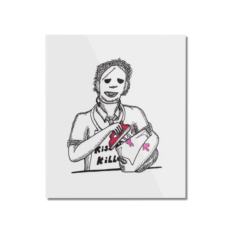Killers In The Kitchen Leatherface Home Mounted Acrylic Print by Raven Mad Design's Artist Shop